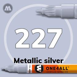 Маркер акриловый Molotow 227 Металлик серебро (Metallic silver) 1.5 мм