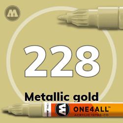 Маркер акриловый Molotow 228 Металлик золото (Metallic gold) 1.5 мм