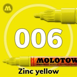 Маркер акриловый Molotow ONE4ALL 127HS 006 Желтый (Zinc yellow) 2мм