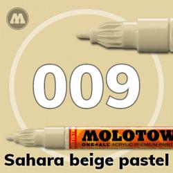 Маркер акриловый Molotow ONE4ALL 127HS 009 Сахара (Sahara beige pastel) 2мм