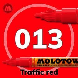 Маркер акриловый Molotow ONE4ALL 127HS 013 Красный (Traffic red) 2мм
