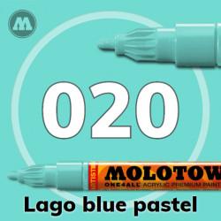 Маркер акриловый Molotow ONE4ALL 127HS 020 Сине-зеленый (Lago blue pastel) 2мм