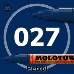 Маркер акриловый Molotow ONE4ALL 127HS 027 Темно-синий (Petrol) 2мм