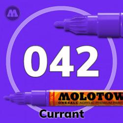 Маркер акриловый Molotow ONE4ALL 127HS 042 Фиолетовый (Currant) 2мм