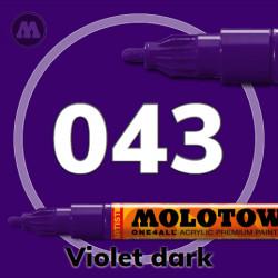 Маркер акриловый Molotow ONE4ALL 127HS 043 Темно-фиолетовый (Violet dark) 2мм
