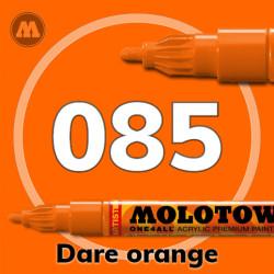 Маркер акриловый Molotow ONE4ALL 127HS 085 Оранжевый (Dare orange) 2мм