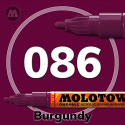 Маркер акриловый Molotow ONE4ALL 127HS 086 Бордовый (Burgundy) 2мм