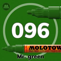 Маркер акриловый Molotow ONE4ALL 127HS 096 Мистер зеленый (Mr. green) 2мм
