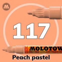 Маркер акриловый Molotow ONE4ALL 127HS 117 Персиковый (Peach pastel) 2мм