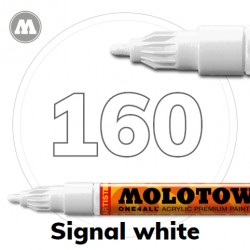 Маркер акриловый Molotow ONE4ALL 127HS 160 Белый (Signal white) 2мм
