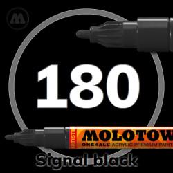 Маркер акриловый Molotow ONE4ALL 127HS 180 Черный (Signal black) 2мм