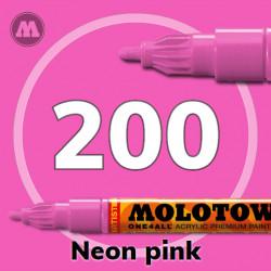 Маркер акриловый Molotow ONE4ALL 127HS 200 Розовый (Neon pink) 2мм