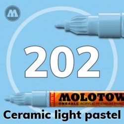 Маркер акриловый Molotow ONE4ALL 127HS 202 Светло-голубой (Ceramic light pastel) 2мм