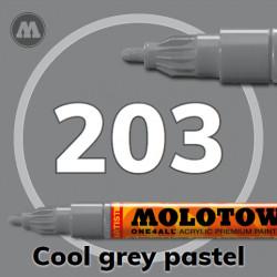 Маркер акриловый Molotow ONE4ALL 127HS 203 Серый (Cool grey pastel) 2мм