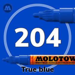 Маркер акриловый Molotow ONE4ALL 127HS 204 Синий (True blue) 2мм