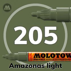 Маркер акриловый Molotow ONE4ALL 127HS 205 Хаки (Amazonas light) 2мм