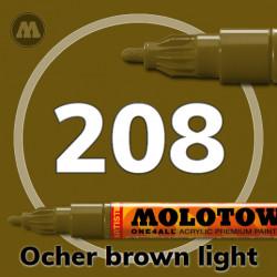 Маркер акриловый Molotow ONE4ALL 127HS 208 Коричневый (Ocher brown light) 2мм