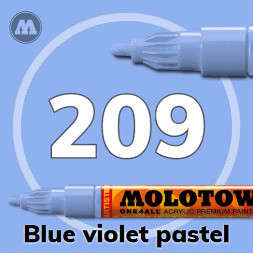 Маркер акриловый Molotow ONE4ALL 127HS 209 Сине-фиолетовый (Blue violet pastel) 2мм