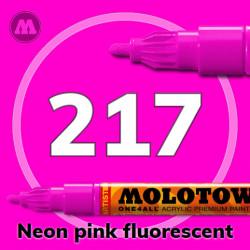 Маркер акриловый Molotow ONE4ALL 127HS 217 Неон-розовый (Neon pink fluorescent) 2мм
