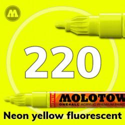 Маркер акриловый Molotow ONE4ALL 127HS 220 Неон-желтый (Neon yellow fluorescent) 2мм