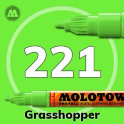 Маркер акриловый Molotow ONE4ALL 127HS 221 Светло-зеленый (Grasshopper) 2мм