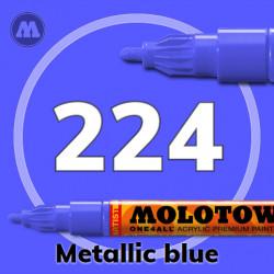Маркер акриловый Molotow ONE4ALL 127HS 224 Металлик синий (Metallic blue) 2мм