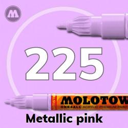 Маркер акриловый Molotow ONE4ALL 127HS 225 Металлик розовый (Metallic pink) 2мм