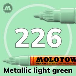Маркер акриловый Molotow ONE4ALL 127HS 226 Металлик зеленый (Metallic light green) 2мм