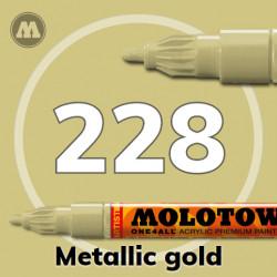 Маркер акриловый Molotow ONE4ALL 127HS 228 Металлик золото (Metallic gold) 2мм