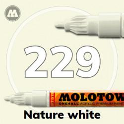 Маркер акриловый Molotow ONE4ALL 127HS 229 Натуральный белый (Nature white) 2мм