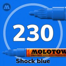 Маркер акриловый Molotow ONE4ALL 127HS 230 Шоковый синий (Shock blue) 2мм