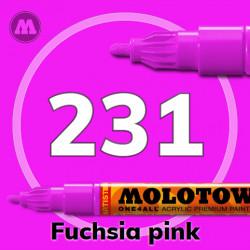 Маркер акриловый Molotow ONE4ALL 127HS 231 Розовая фуксия (Fuchsia pink) 2мм
