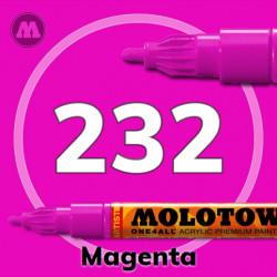 Маркер акриловый Molotow ONE4ALL 127HS 232 Маджента (Magenta) 2мм