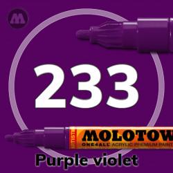 Маркер акриловый Molotow ONE4ALL 127HS 233 Пурпурный (Purple violet) 2мм