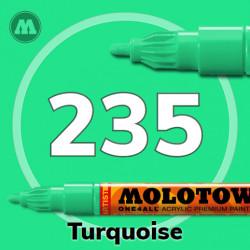 Маркер акриловый Molotow ONE4ALL 127HS 235 Бирюзовый (Turquoise) 2мм