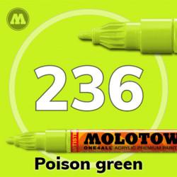 Маркер акриловый Molotow ONE4ALL 127HS 236 Ядовито-зеленый (Poison green) 2мм
