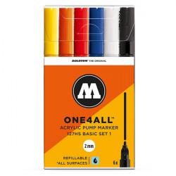 Набор маркеров Molotow One4all 127HS Basic-Set 1 6 шт 2 мм