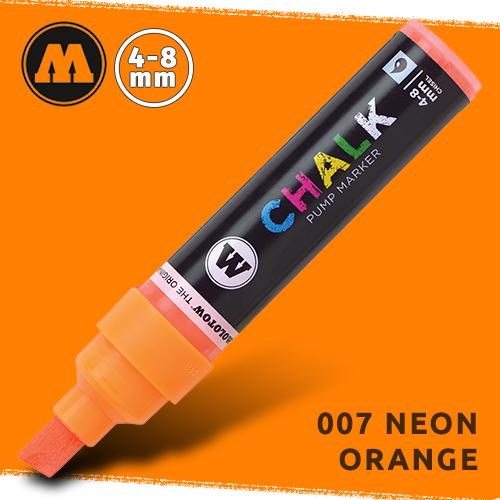 Маркер меловой Molotow CHALK 007 Неоновый оранжевый (Neon_orange) 4-8 мм
