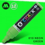 Маркер меловой Molotow CHALK 010 Неоновый зеленый (Neon_green) 4-8 мм