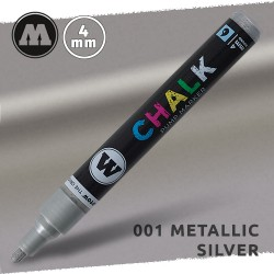 Маркер меловой Molotow CHALK 001 Серебро (Metallic_silver) 4 мм