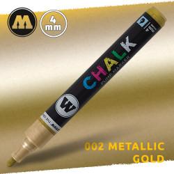 Маркер меловой Molotow CHALK 002 Золото (Metallic_gold) 4 мм