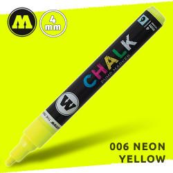 Маркер меловой Molotow CHALK 006 Неоновый желтый (Neon_yellow ) 4 мм