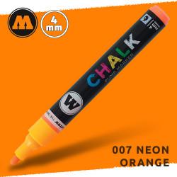 Маркер меловой Molotow CHALK 007 Неоновый оранжевый (Neon_orange) 4 мм