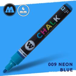 Маркер меловой Molotow CHALK 009 Неоновый синий (Neon_blue) 4 мм
