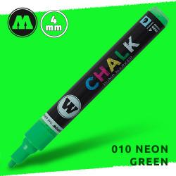 Маркер меловой Molotow CHALK 010 Неоновый зеленый (Neon_green) 4 мм