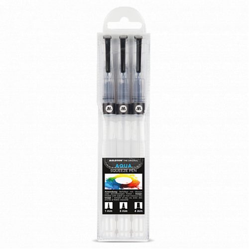 Набор маркеров Molotow AQUA Squeeze Pen Basic-Set 1, 3шт