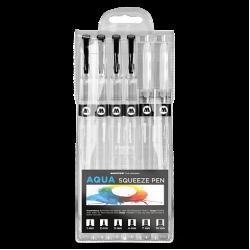 Набор маркеров Molotow AQUA Squeeze Pen Basic-Set 2, 6шт
