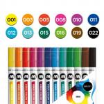 Набор маркеров AQUA COLOR BRUSH Basic Set 1, 12шт