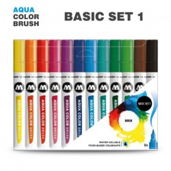 Набор маркеров AQUA COLOR BRUSH Basic Set 1, 12шт