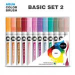 Набор маркеров AQUA COLOR BRUSH Basic Set 2, 12шт